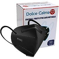 50-Pack Dolce Calma 5-Layer KN95 Face Masks (Black)
