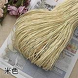 Hilo de Paja de Rafia Crochet para Tejer DIY Sombrero de Paja de Verano Bolsos Cojines Cestas Material Hilo 500 g/Lote, Beige