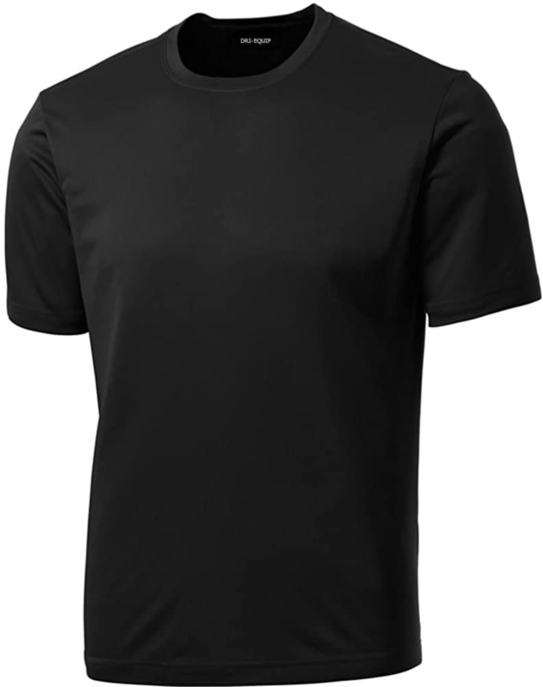 DRIEQUIP Men's Big & Tall Short Sleeve Moisture Wicking Athletic T-Shirts