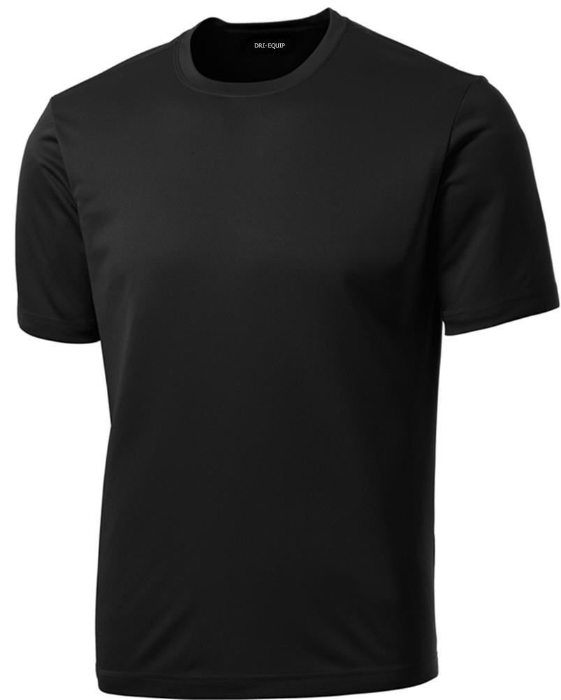 DRIEQUIP Moisture Wicking Athletic T Shirt Black XL