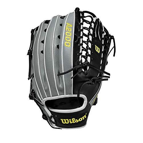 Wilson A2000 12.75-Inch SuperSkin Baseball Glove, Grey/Black/White, Left (Right Hand Throw)