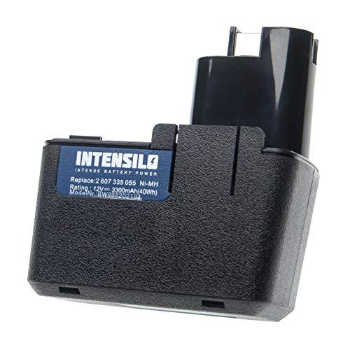 INTENSILO Batería compatible con Bosch GLI 12V, GSB 12 VSE-2, GSB 12VSP-2, GSB 12 VSP-3, GSR 12V herramientas eléctricas (3300mAh NiMH 12V)