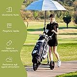 Immagine 2 costway carrello da golf pieghevole