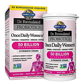 Garden of Life Probiotic Supplement Capsules for Women Dr Formulated Once Daily for Digestive Health Shelf Stable 30 Count