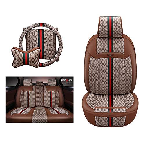 HRFHLHY Funda de Cuero y Funda de Asiento de automóvil/Compatible con la Serie de Modelos Jaguar: X