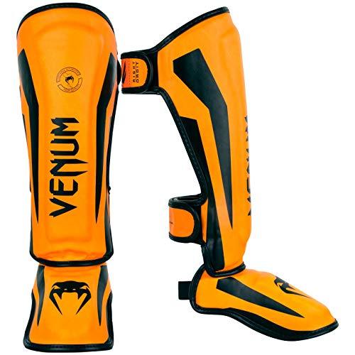 VENUM - Protector Tibias Infantil Elite, N'est Pas Applicable, Niño, Color Fluo/Orange, tamaño Talla L (Francia. Talla Fabricante: L)