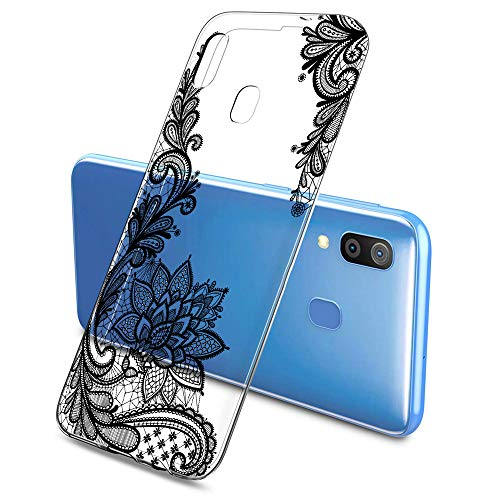 Suhctup Custodia Compatibile per Samsung Galaxy S4 / I9500, Cover Galaxy S4 Silicone Trasparente con Disegni [ Pizzo ], Ultra Slim TPU Morbido Antiurto Antigraffio Case