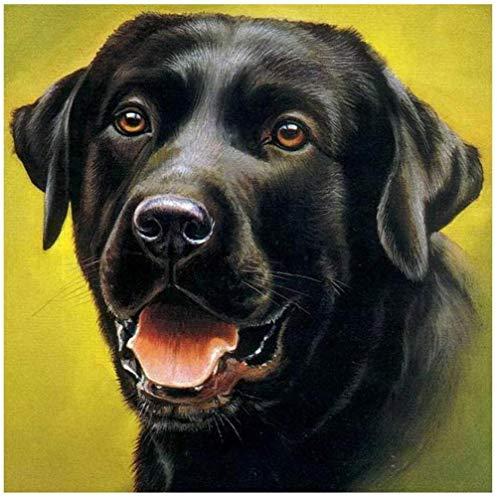 Puzzle 1000 Teile Holzpuzzle DIY Adult großen Hund Spielzeug Tier Haustier schwarzen Hund Labrador Malerei Bild Home Decoration