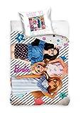 Barbie Parure de lit en coton 140 x 200 + 70 x 90 cm