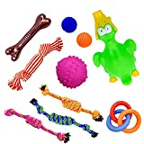 Petswoo Dog Toys For Small Dogs and Medium Dogs (10 Pack) - Puppy Toys From 8 Weeks Includes Dog Rope Toys, Dog Chew Toys and Puppy Teething Toys Starter Kit (Pack B)