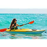 Pelican Maxim 100X Sit-in Recreational Kayak Kayak 10-Foot Lightweight one Person Kayak Perfect for Recreation, Yellow… 11 Lightweight and easy to carry with Front and Rear T-Handles for Easy Transport this Sit-In kayak has a maximum capacity of 275 lb. / 125 KG Includes a Storage hatch with bungee cord and a Storage Platform with a Mesh Deck Cover to store all your gear for your trip on the water The Shallow V Chine hull Design provides good stability and maneuverability while providing very good performance.Do not use chemical products or abrasives