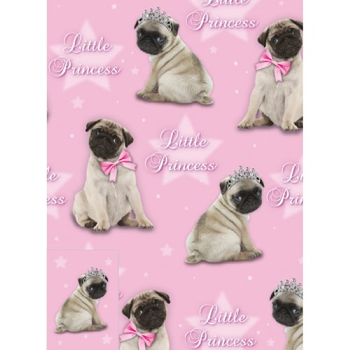 Little Princess - Geschenkpapier - Gift Wrap & Tags - Mops Prinzessin