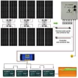 ECO-WORTHY 2300W Off Grid Solar Panel Kit 24V Complete Solar System with 12pcs 195W Solar Panel and...