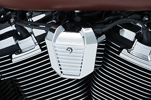 Kuryakyn 6466 Motorcycle Accent Accessory: Precision Coil Cover for 2018-19 Harley-Davidson Softail Motorcycles, Chrome
