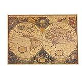 kemai - Póster de Mapa náutico, diseño de Mapa náutico, Color Crema, Papel Kraft, decoración Vintage de Mapa náutico, póster Decorativo, Round Old, 71 * 50cm