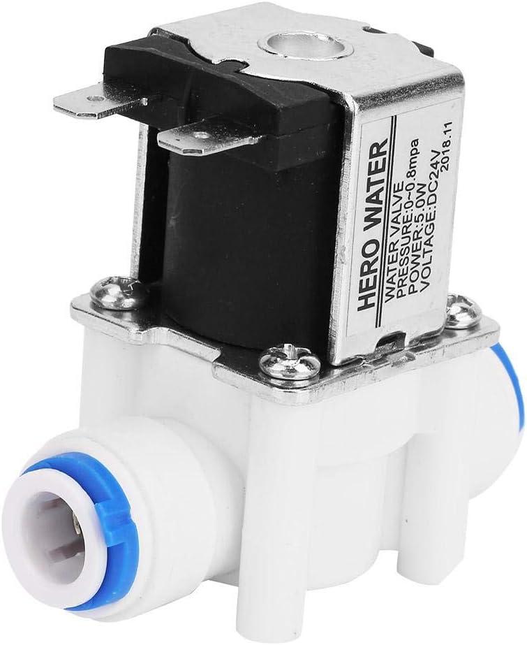 Válvula solenoide de entrada de agua 24V N / C Máquina de agua pura Purificador de agua Válvula de conexión rápida 3/8 Accesorios mecánicos