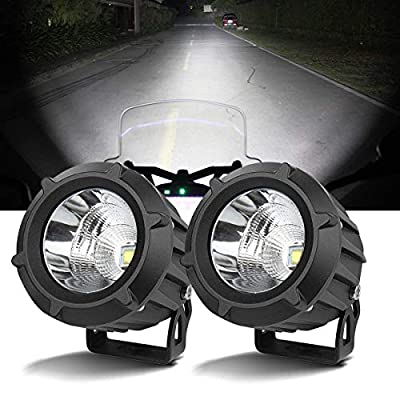 Chelhead LED Driving Light,2Pcs Cree 25W 6000K Spot Beam Round LED Work Light Pod Lights Work Lamp for Off Road 4x4 Pickup Truck Motorcycle Jeep SUV Truck Wrangler Boat Tractor