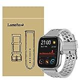 Ceston Traspirante Sport Silicone Classica Cinturino per Smartwatch Amazfit GTS (20mm, Grigio)