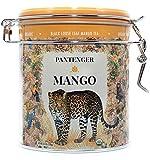 Mango Tea. Mango Tea Loose Leaf 3.5 Oz. Finest USDA Organic Black Mango Tea. Pantenger Mango is a Tea Blend of Organic Black Tea Leaves with Mango Pieces and Marigold Petals. Drink Hot or Iced.