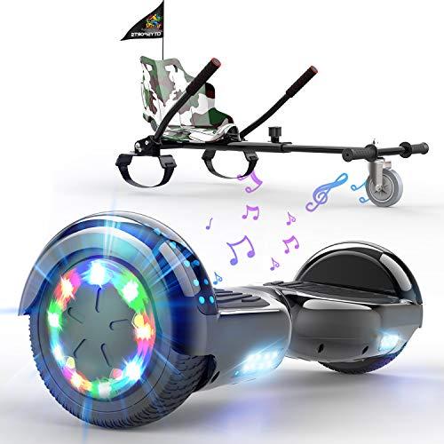 SOUTHERN-WOLF Patinete Eléctrico Hoverboard, Hover 6.5 Pulgadas Board Leds, Potente batería de Litio, Bluetooth, Self Balancing, monopatín eléctrico Auto-Equilibrio z29 (Graffiti)