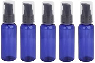 RAYNAG 5 Pack Empty Refillable Plastic Pump Bottle Ideal for Lotion Cream Essential Oil Travel Small Container,50ml/1.7oz