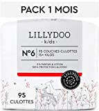 Couches-culottes LILLYDOO Taille 6 (15+ kg) - 95 culottes - Pack 1 mois