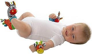 Mine Tom, Minetom 2SET brillante bebé infantil Kids Lamaze suave muñeca calcetines del pie del juguete buscador Rattle Manos alza Correa de muñeca + Calcetines A Una Talla