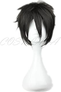 COSPLAZA Cosplay Wigs Short Party Hair Black Boy Male Games Movie Anime Synthetic Wig