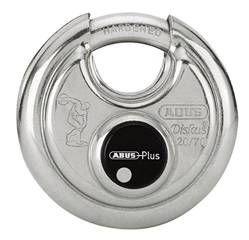 ABUS Diskus® Vorhängeschloss 20/70 mit 360° Rundumschutz - mit Diskus®-Schweißtechnologie für besten Aufbruchschutz - 08854 - Level 9 - Silber
