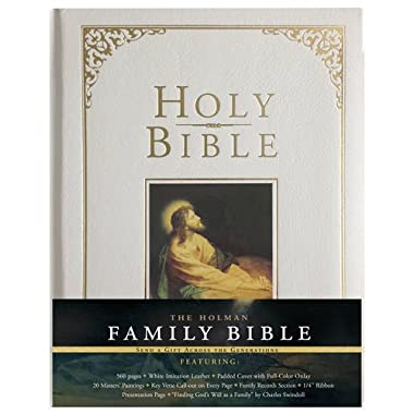 Holman KJV Family Bible, White Imitation Leather