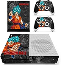 KAJAL MANI Xbox One S Skin Set Vinyl Decal Skin Stickers Protective for Xbox One S Console Kinect 2 Controllers - SON GOKU