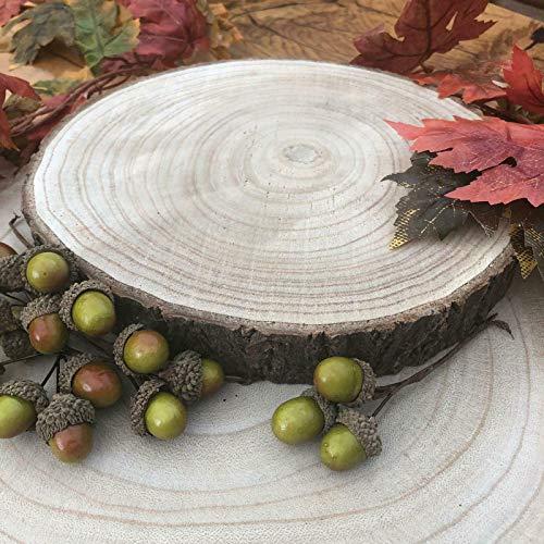 Ampliación de madera natural de la rebanada registro de la corteza de árbol de bodas Centro de mesa soporte de la torta (24-29cms Mediano)