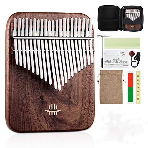 Alsophila カリンバ 21キー kalimba 親指ピアノ楽器 バージョンアップは北米の黒クルミから作られたサムピアノが装備されています 大人/子供/初心者に適用