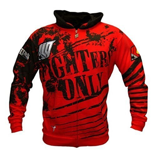 Fighters Only Sweat à capuche pour MMA/UFC Rouge petit Rouge