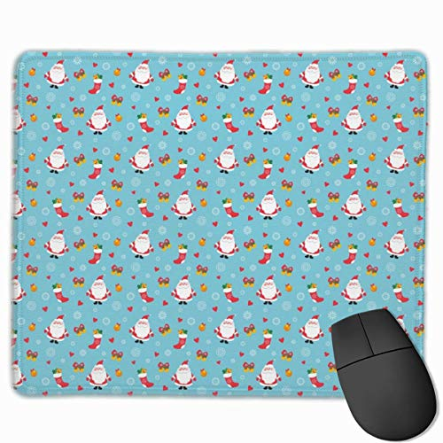 Glattes Mauspad, Weihnachtsmann und Socken Mobile Gaming Mousepad Work Mouse Pad Office Pad