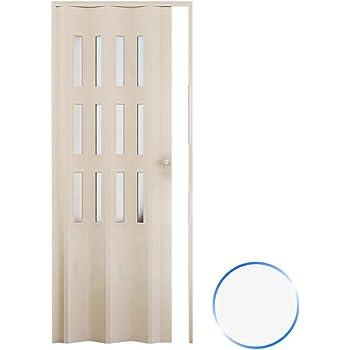 Forte Puerta Plegable de Interior de PVC 88,5x214 cm Blanco ...