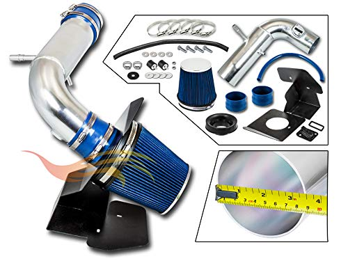 RTUNES RACING - BLUE - COLD AIR INTAKE w/HEAT SHIELD KIT Compatible For 11-18 Ford EXPLORER 3.5L