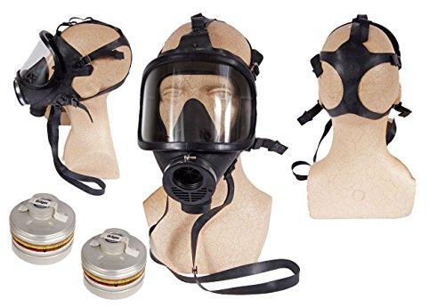 Unbekannt NATO Schutzmaske Panorama schwarz mit 2 Filtern neuwertig