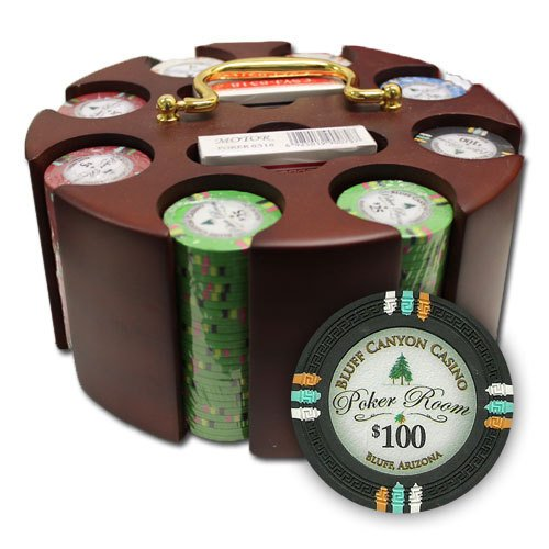 "Read About 200Ct Claysmith Gaming """"Bluff Canyon"""" Chip Set in Carousel"