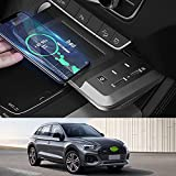 JUSTGJS Support de Chargeur sans Fil de Voiture pour Audi Q5 SQ5 2019 2020 2021 Panneau...