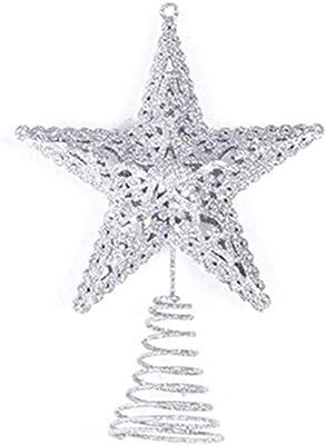 dfhdrtj /Útil Purpurina Rosa Oro Plata Estrella /Árbol de Navidad Decoraci/ón Adorno Decoraci/ón Navidad Nuevo Azul