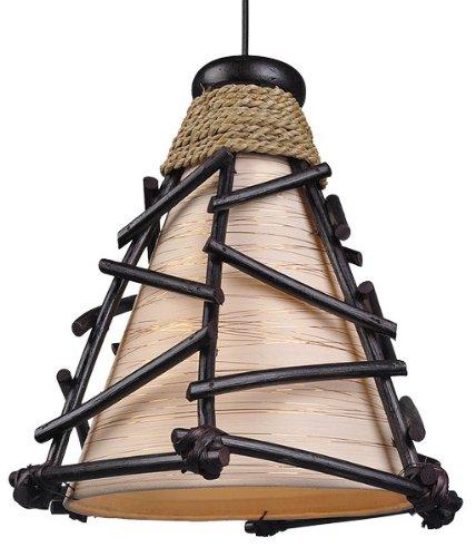 Pendellampe Romy - Deckenlampe, Deko-Leuchte, handgefertigte Stimmungsleuchte aus Natur-Materialien