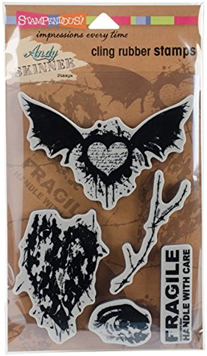 STAMPENDOUS Andy Skinner Stamp, Handle W/Care