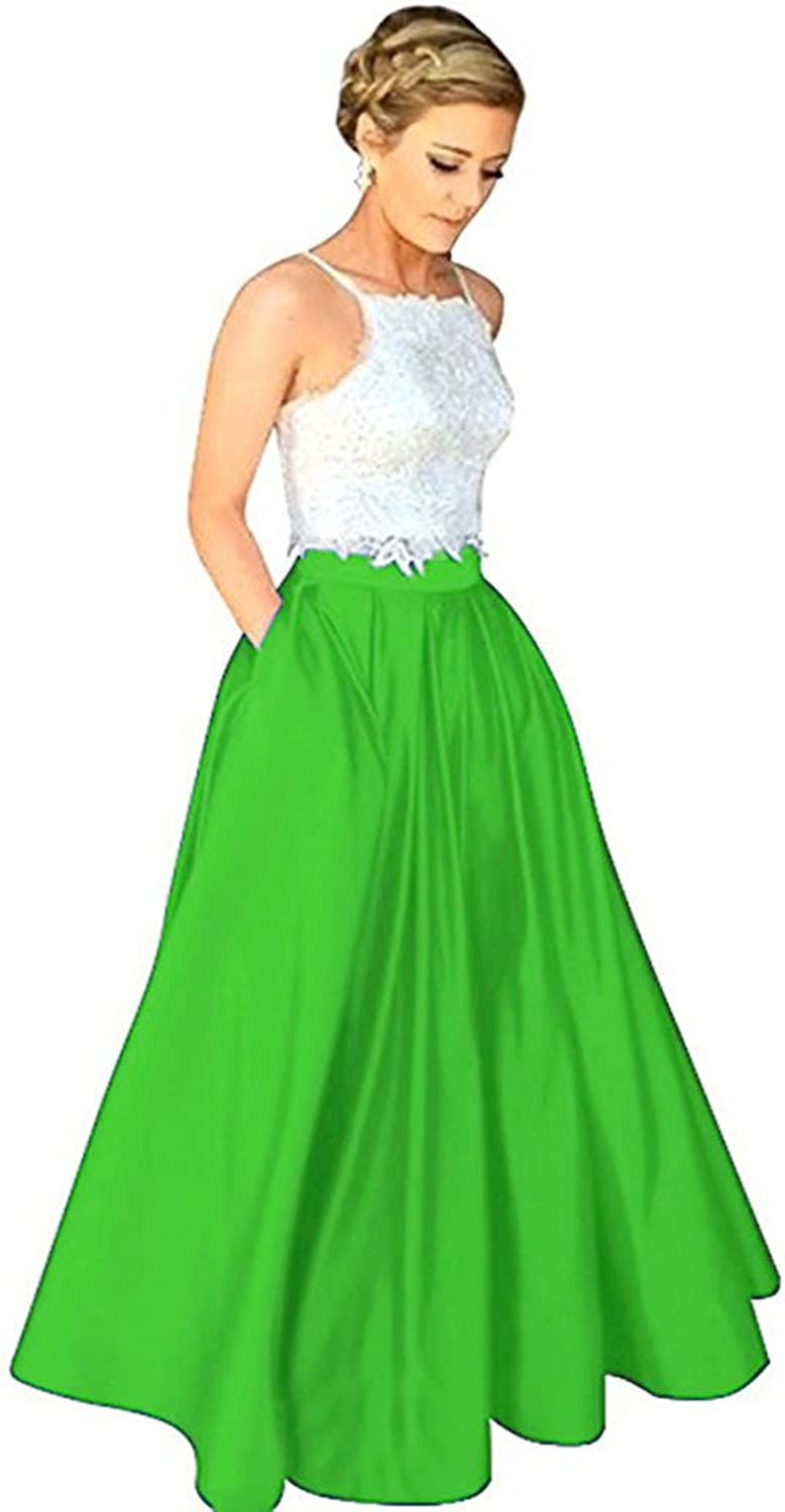 f155784d8fa66 Hjtrust Women's Two Piece Prom Dresses 2018 Formal Evening Dresses Long for  Party H044