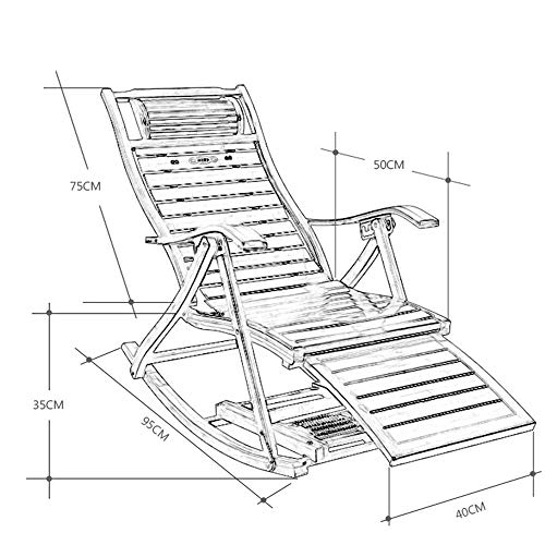 Opvouwbare schommelstoel, bamboe tuin massief hout lounge stoel, tuin, balkon, outdoor draagbare stoel, vier seizoenen universeel Ordinary_rocking_chair