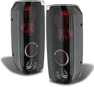 Xtune 1989-1996 F150/F250, Bronco Mystery Black/Smoked Tail Lights Rear Brake Lamps Pair L+R 1990 1991 1992 1993 1994 1995