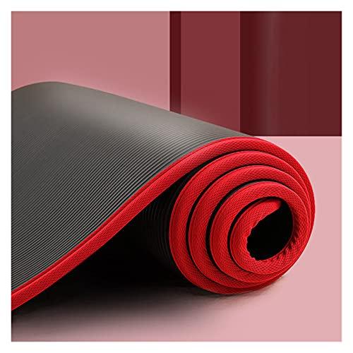 XIAOSHI Alfombra del Piso Estera de Yoga de 183cmx61cm de 10 mm espesó NBR Fitness Gym Mats Sports Cushion Gimnastic Pilates Pads con Bolsa y Correa de Yoga Alfombra de protección del Piso