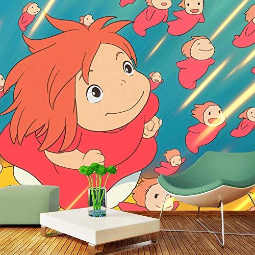 RQWBH zelfklevend behang 3D muurschilderingen (B) 520X (H) 290cm Stereo Als Boeddha Guanyin Zhongtang schilderij kinderen slaapkamer behang en meisjes kamerdecoratie slaapkamer kunstenaar 520x290 cm (BxH) 11 Streifen - selbstklebend