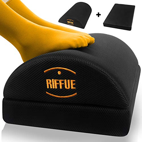 Adjustable Foot Rest Under Desk Non-Slip Half-Cylinder Footstool Footrest Ergonomic Footrest Cushion Reduces Pressure on Legs, Ideal for Airplane, Travel, Home and Office