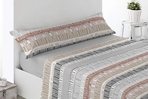 BENEDETTAHOME Juego de sábanas Estampadas coralina Invierno, 100% poliéster, con Tacto Suave y Agradable. Modelo Libreros, Gris. Juego de 3 Piezas para Cama de 90.